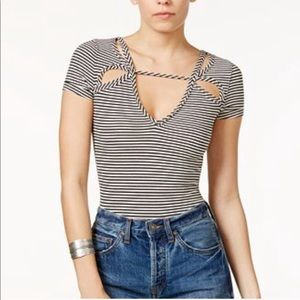 FREE PEOPLE Frenchie Striped Cutout M
